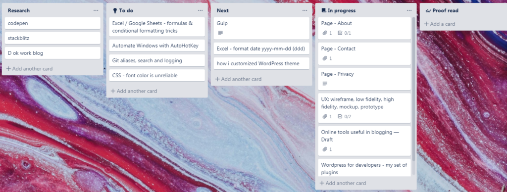 Trello - Blogging Editorial Workflow and Calendar » Łukasz