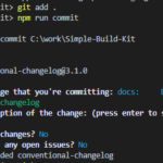 Automatic CHANGELOG.md or commitizer and standard-version family